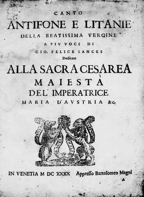 Antifone e litanie della Beatissima Vergine a piu voci [...]