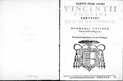 Psalmi ad Vesperas et motecta duodenis vocibus, una cum basso ad organum, liber primus [...]