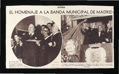 El Homenaje a la Banda Municipal de Madrid