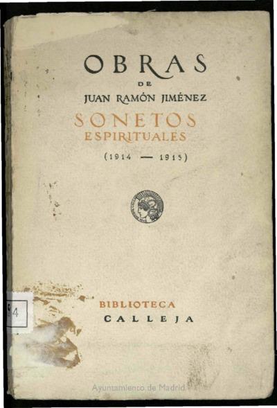 Sonetos espirituales (1914-1915)