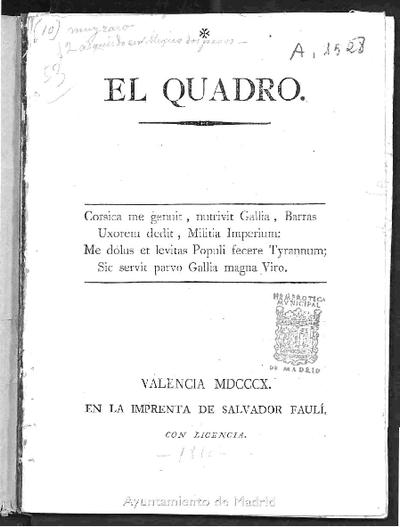 El Quadro: [Genealógía satírica de Napoleón Bonaparte]