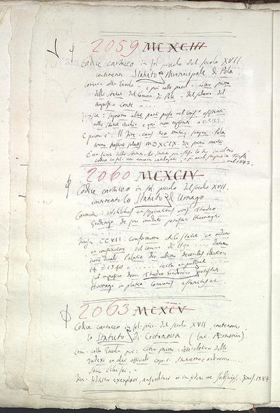 Venezia, Biblioteca del Museo Correr, Cicogna 2059