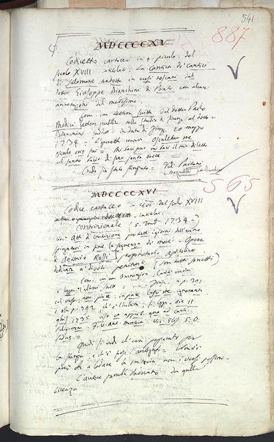 Venezia, Biblioteca del Museo Correr, Cicogna 565