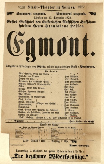 Egmont. Tragödie in 5 Aufzügen