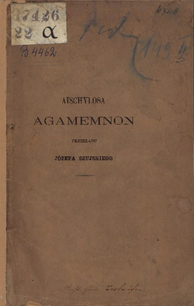 Agamemnon. Tragedya Aischylosa