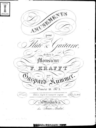 Amusements pour flûte & guitarre...Oeuvre 18 no. 3