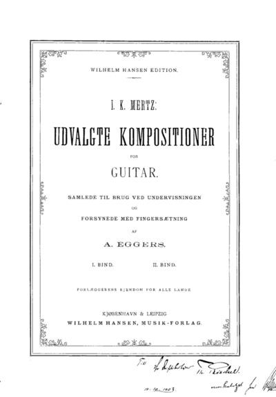 Udvalgte Kompositioner for Guitar : I.-II. Bind