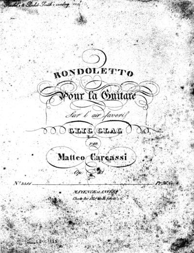 Rondoletto pour la guitare sur l'air favori Clic clac : Op. 41