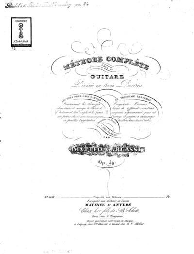 Méthode complète pour la guitare, divisée en trois parties...Op. 59 : (3.me partie: Cinquante morceaux progressifs)