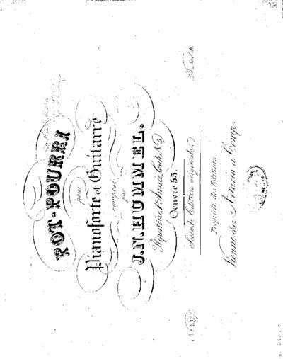 Pot-pourri pour pianoforte et guitarre : (Oeuvre 53); Répertoire, 1.e année, cahier No. 5