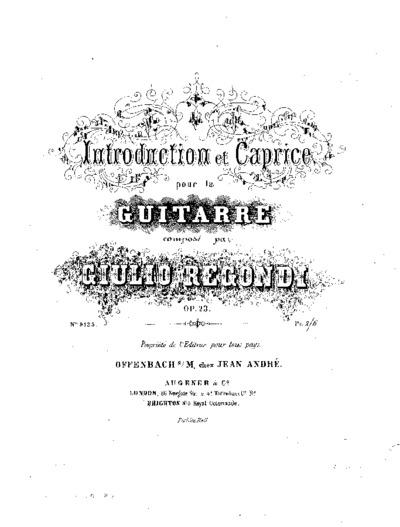 Introduction et caprice pour la guitare, Op. 23
