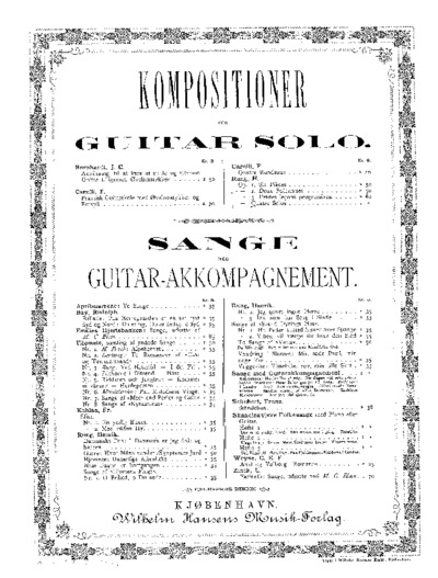 ...Quatre solos...; Kompositioner for Guitar solo