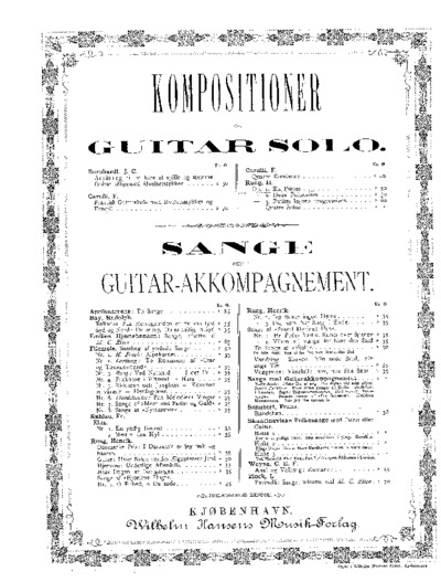 ...Six pièces. Op. 1...; Kompositioner for Guitar solo