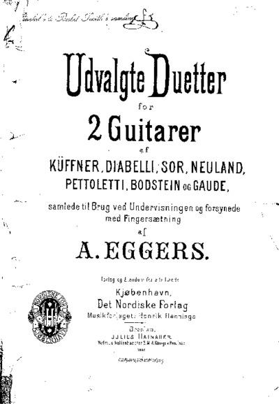 Udvalgte Duetter for 2 Guitarer