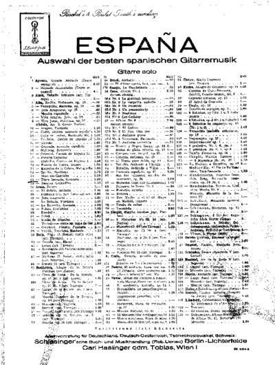 Torre bermeja : serenata; España