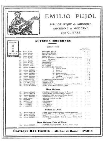 Première étude...; Emilio ¤Pujol: Bibliothèque de musique ancienne et moderne pour guitare