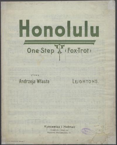 Honolulu : One-Step (Fox-Trot)