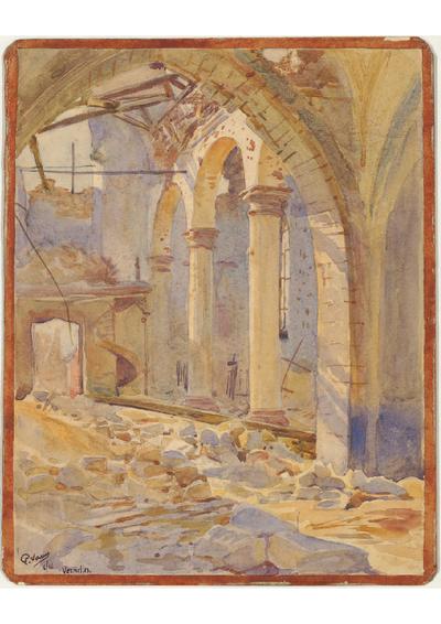 Image from object titled FRBNFM-031 Paul Sarrut, artiste-peintre, officier de liaison auprès des armées britanniques