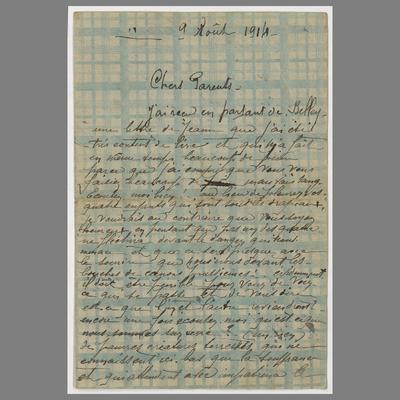 Image from object titled FRBNFM-239 Jacques-Emile Lapendry, lettres de guerre