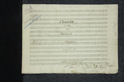 Cavatina [Cavatine] mit Chor