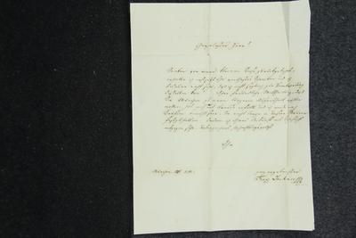 Brief von Franz Lachner an Anselm Hüttenbrenner