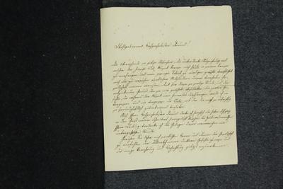 Brief von Joseph Weigl an Anselm Hüttenbrenner