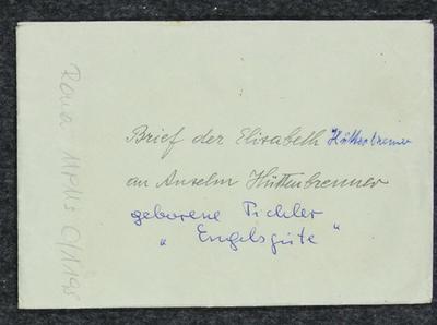 Brief von Elise H. an Anselm Hüttenbrenner