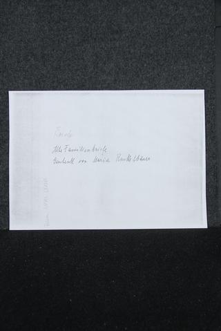 Brief von Heinrich Hüttenbrenner an die Familie