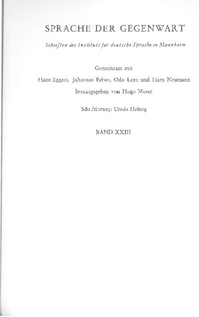 Linguistische Studien III : Festgabe für Paul Grebe zum 65. Geburtstag, Teil 1