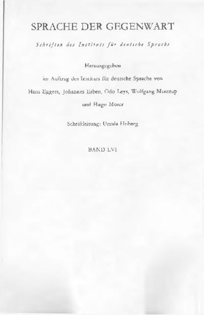 Image from object titled Mehrsprachigkeit in der Stadtregion : Jahrbuch 1981 des Instituts für deutsche Sprache