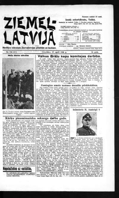 Ziemeļlatvija - 1939-04-27