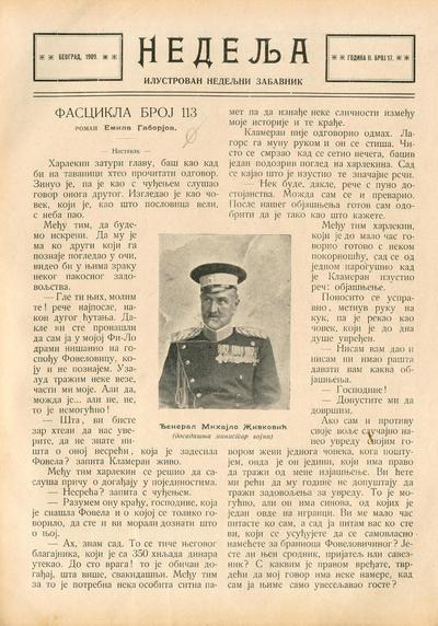 Image from object titled Nedelja - 1909-09-01