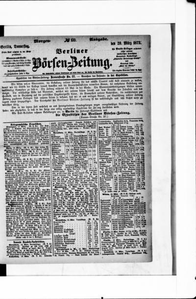 Berliner Börsenzeitung - 1873-03-20