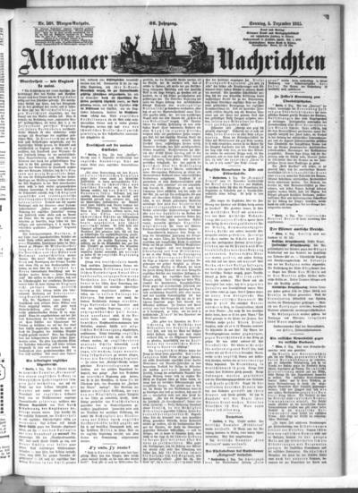Image from object titled Altonaer Nachrichten / Hamburger neueste Zeitung - 1915-12-05