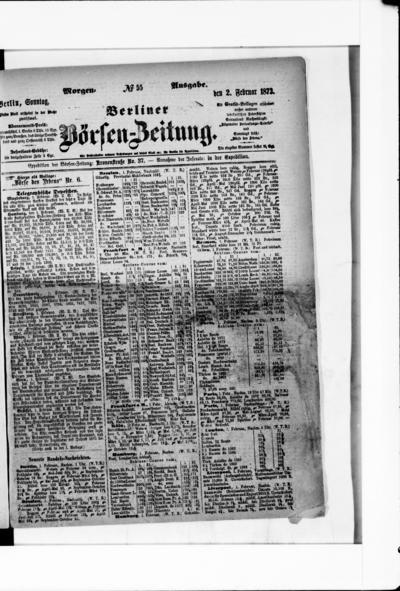 Berliner Börsenzeitung - 1873-02-02