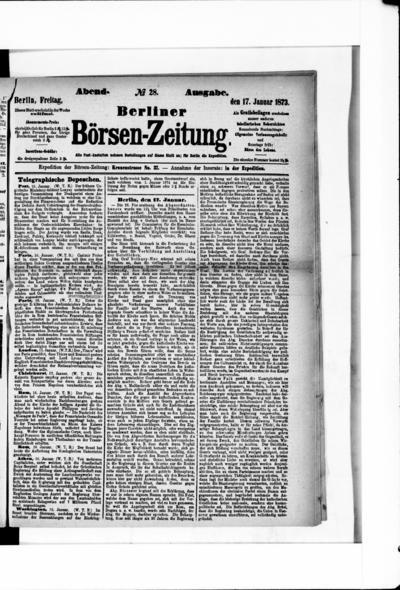 Berliner Börsenzeitung - 1873-01-17