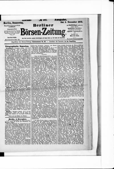 Berliner Börsenzeitung - 1873-12-04