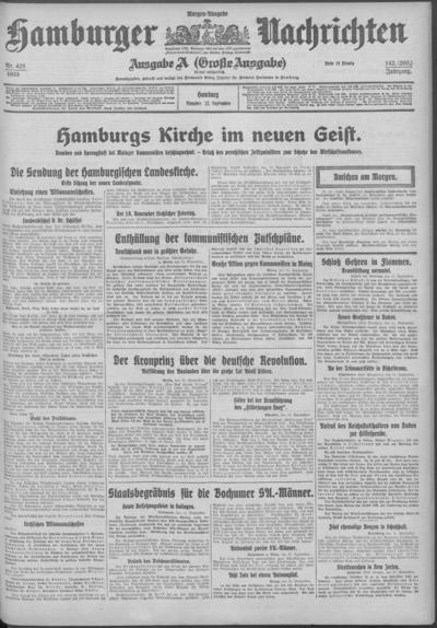 Image from object titled Hamburger Nachrichten - 1933-09-12