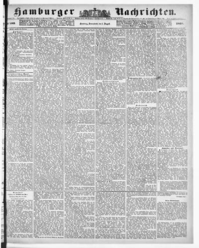 Image from object titled Hamburger Nachrichten - 1868-08-01