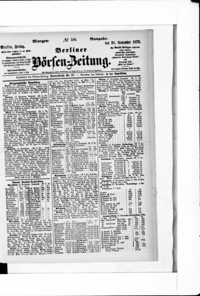 Berliner Börsenzeitung - 1873-11-27