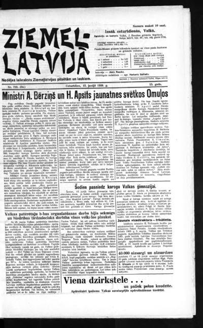 Ziemeļlatvija - 1939-06-15