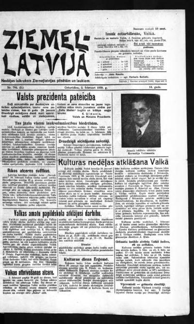 Ziemeļlatvija - 1939-02-02