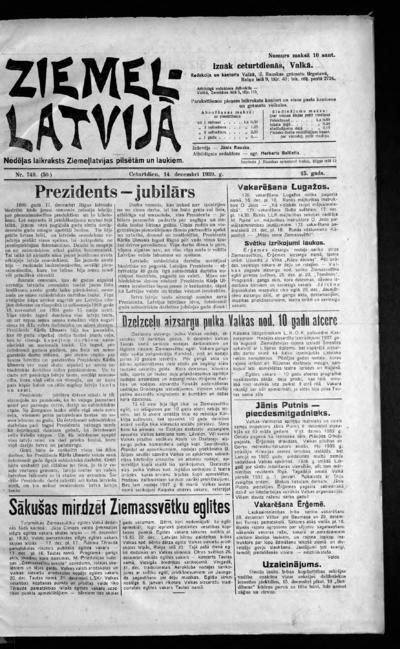 Ziemeļlatvija - 1939-12-14