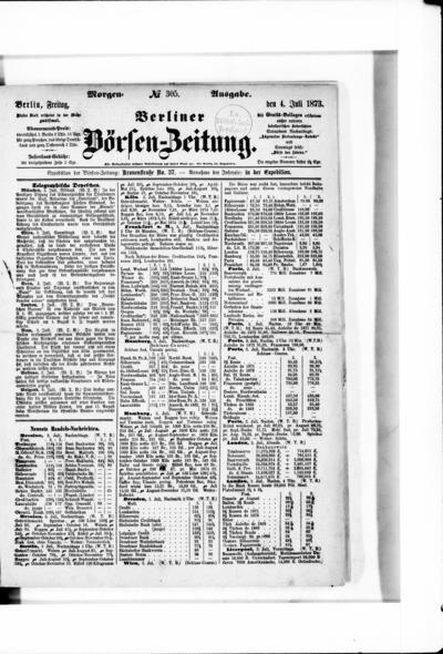 Berliner Börsenzeitung - 1873-07-04