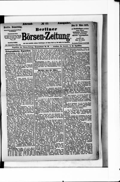 Berliner Börsenzeitung - 1873-03-13