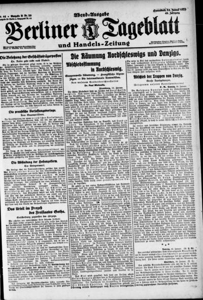 Image from object titled Berliner Tageblatt - 1920-01-24