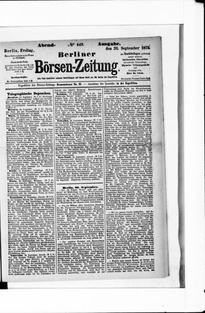 Berliner Börsenzeitung - 1873-09-26