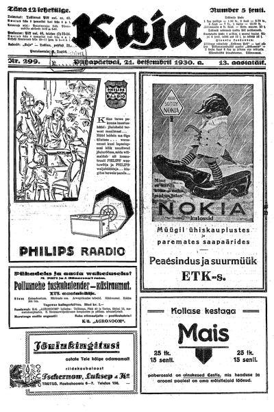 Image from object titled Kaja - 1930-12-21