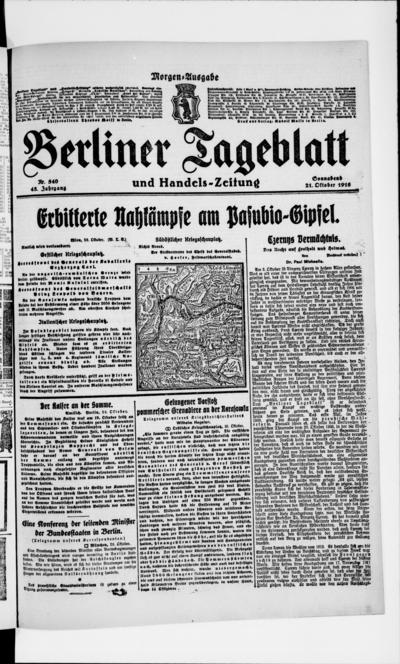 Image from object titled Berliner Tageblatt - 1916-10-21