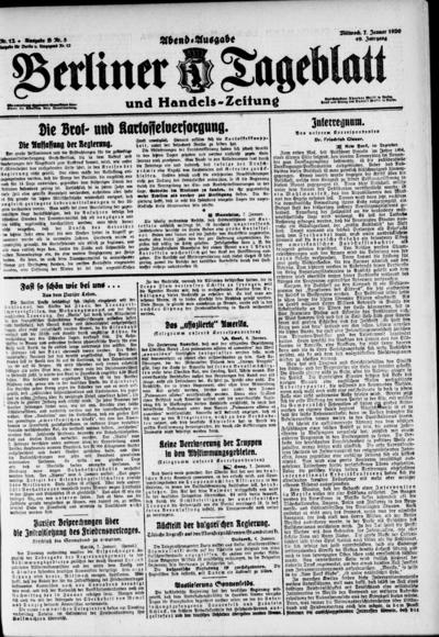 Image from object titled Berliner Tageblatt - 1920-01-07